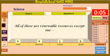 SimpleSchool QUIZ WHIZ