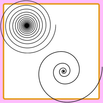 Simpler / Looser Spirals Set Clip Art Commercial Use