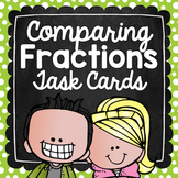Comparing Fractions Task Cards for Centers, Review, Scoot,