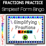 Simplest Form Bingo Powerpoint Game