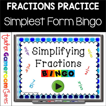 Simplest Form Bingo Powerpoint Game