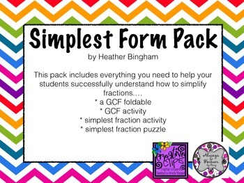 Simplest Form Fraction Pack