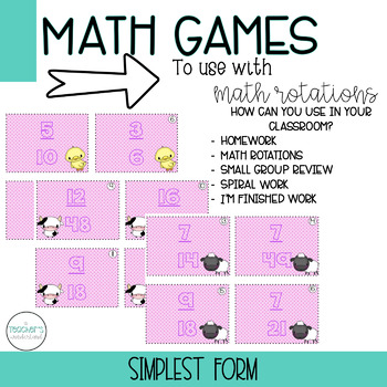 Simplest Form Fractions Game
