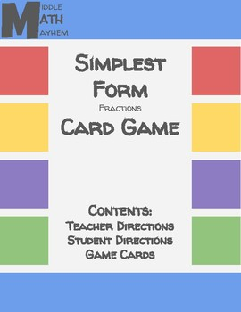 Simplest Form Game