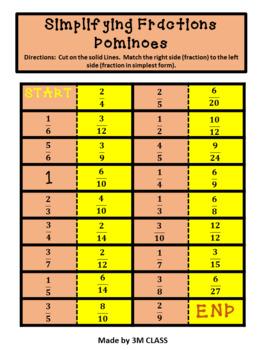 Simplest Form Game of Dominoes Beginner