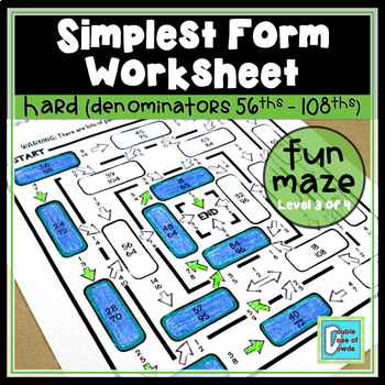 Simplest Form Maze - Hard