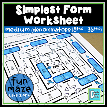 Simplest Form Maze - Medium