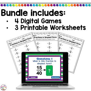 Simplest Form PPT Game Bundle