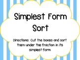 Simplest Form Sort