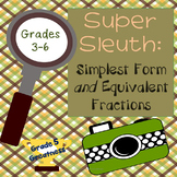 Simplest Form (Reduce Lowest Terms) and Equivalent Fractions Activity