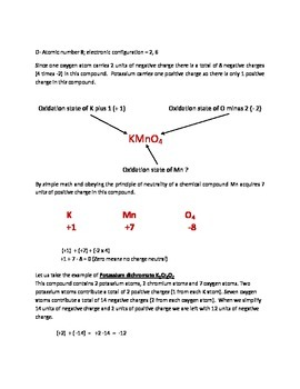 Simplest method to find oxidation state of an element.