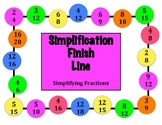 Simplification Finish Line - A 2-Player Game to Practice Simplifying Fractions