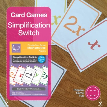 Simplification Switch! | Free Card Game Sample for Algebra