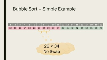 Simplified Bubble Sort Animation