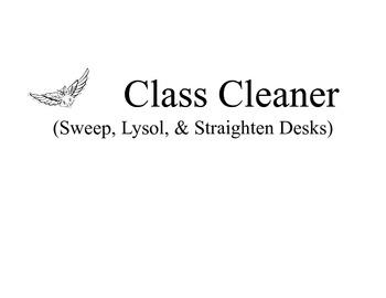 Simplified Class Jobs Desk Cards- Owl Themed