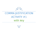 Simplified Comma Rules Activity Assessment Quiz MiniLesson or Practice w/ Key
