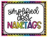 Simplified Desk Name Plates