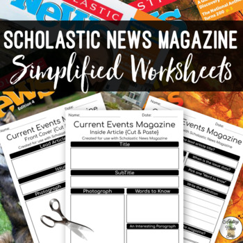 Simplified Extension Worksheets for use with {Scholastic News}