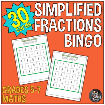 Simplified Fractions Bingo