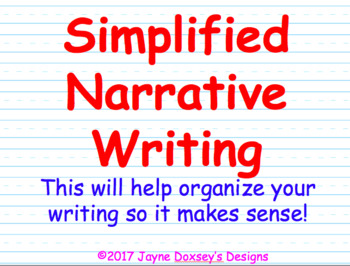 Simplified Narrative Writing