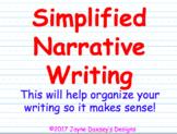 Simplified Narrative Writing