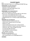 Simplified Revise and Edit Checklist