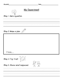 Simplified Scientific Method Experiment Page