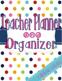 Simplified Teacher Planner and Organizer {rainbow colors}