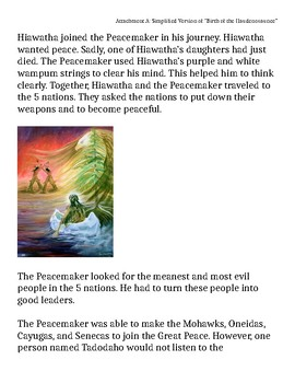 Simplified Version of the Birth of the Haudenosaunee