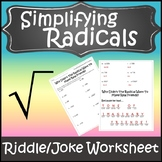 Simplifying Radicals Worksheet {Simplifying Radical Expressions with Variables}
