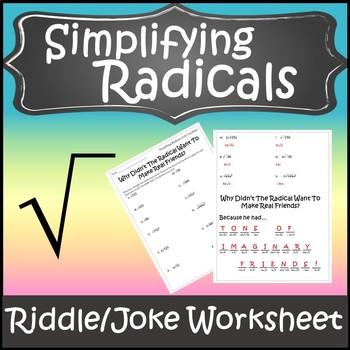 Radicals Worksheet Teaching Resources Teachers Pay Teachers