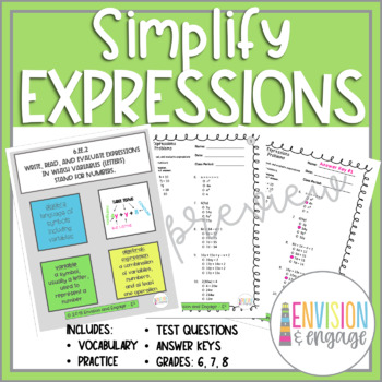 Simplifiy Expressions