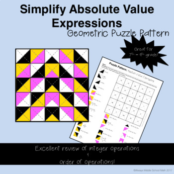 Absolute Value Coloring Mystery Pattern