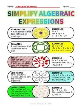 Simplify Algebraic Expressions Scribb Notes