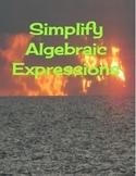 Simplify Algebraic Expressions Worksheet