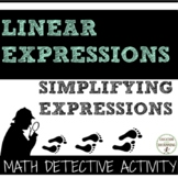 Simplify expressions combining like terms & distributive property activity