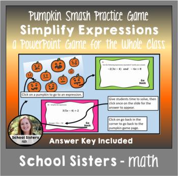 Simplify Expressions Pumpkin Smash