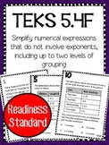 Simplify Expressions TEKS 5.4F Task Cards