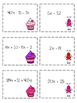 Valentine's Day Math Simplify Expressions (distribute and combine like terms)