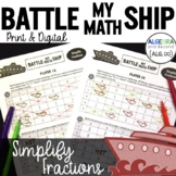 Simplify Fractions Activity   Battle My Math Ship Game   P