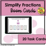 Simplify Fractions Boom Cards - Distance Learning