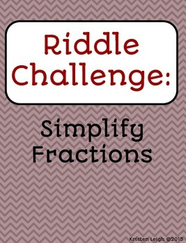 Simplify Fractions - Carousel Ativity