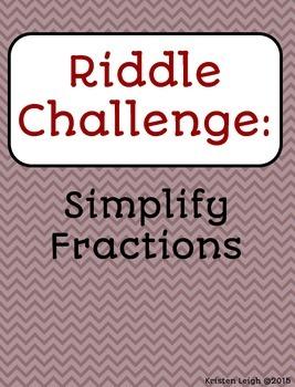 Simplify Fractions - Carousel Ativity