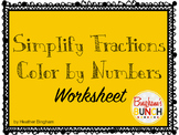 Simplify Fractions: Color By Number Worksheet