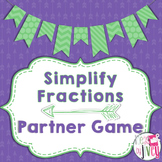 Simplify Fractions Partner Game