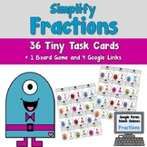 Simplify Fractions Task Cards