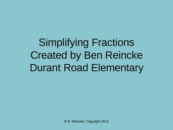 Simplify Fractions TurningPoint Clicker Presentation