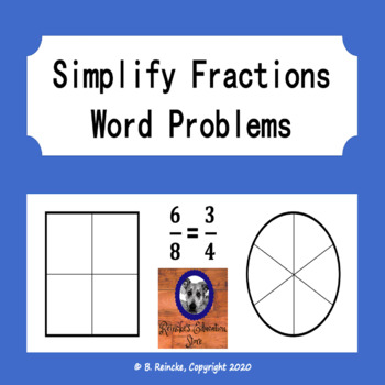 simplify fractions word problems 2 worksheets by reincke 39 s education store. Black Bedroom Furniture Sets. Home Design Ideas