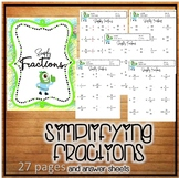 Simplify Fractions Worksheets