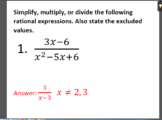 Simplify, Multiply or Divide Rational Expressions Stations